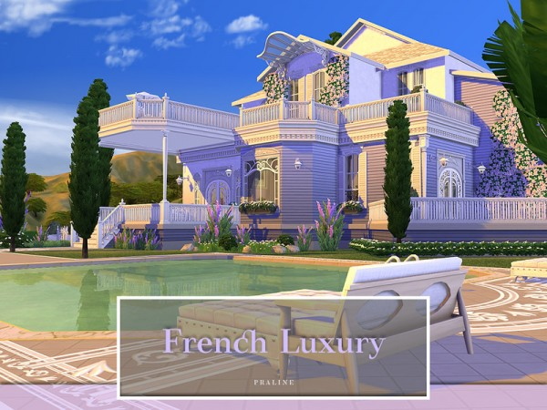 The Sims Resource: French Luxury House by Pralinesims