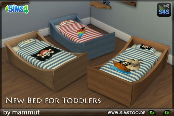 Blackys Sims 4 Zoo: Toddlers Bed Pirate by mammut
