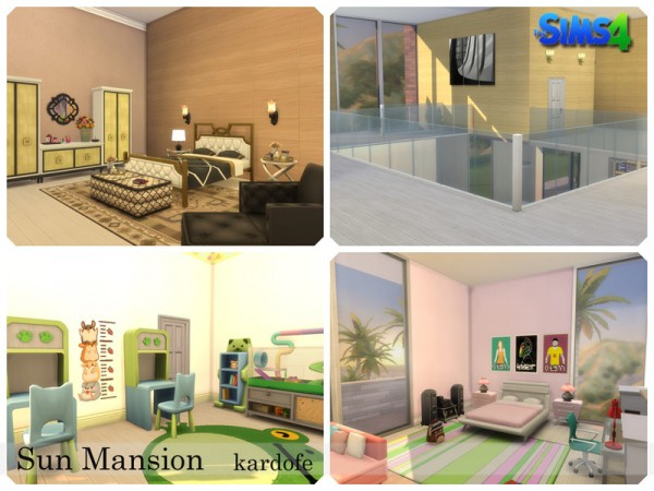 The Sims Resource: Sun Mansion House by kardofe