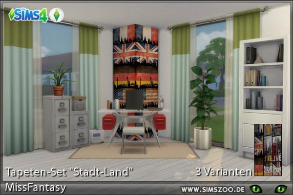 Blackys Sims 4 Zoo: City Country Walls by MissFantasy