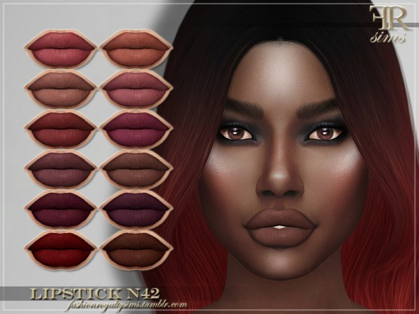 The Sims Resource: Lipstick N42 by FashionRoyaltySims