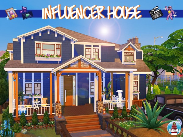 Akisima Sims Blog: Influencer House by Waterwoman