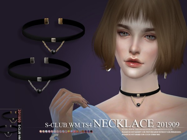 The Sims Resource: Necklace 201909 by S Club
