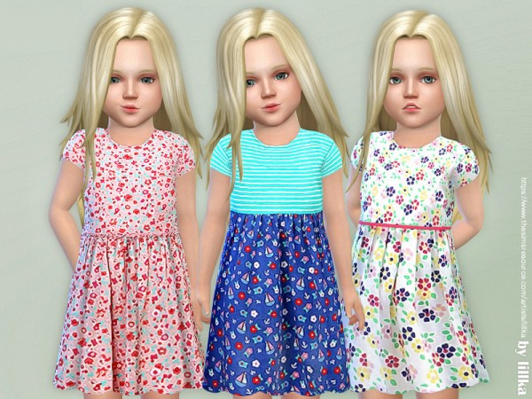The Sims Resource: Dresses Collection P83 by lillka