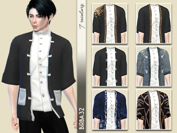 The Sims Resource: Takashi Kimono Jacket by Birba32