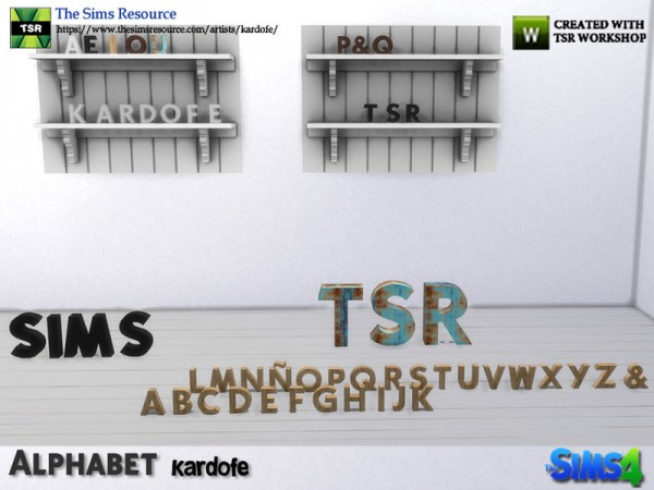 The Sims Resource: Alphabet decor by kardofe