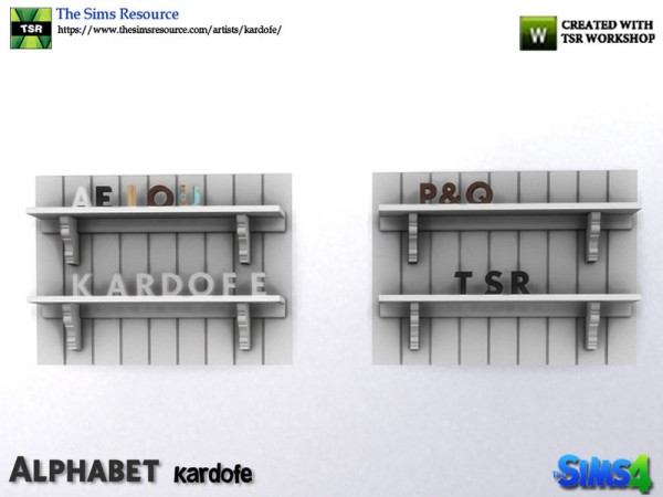 The Sims Resource: Alphabet decor by kardofe