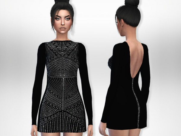 The Sims Resource: Beaded Dress by Puresim