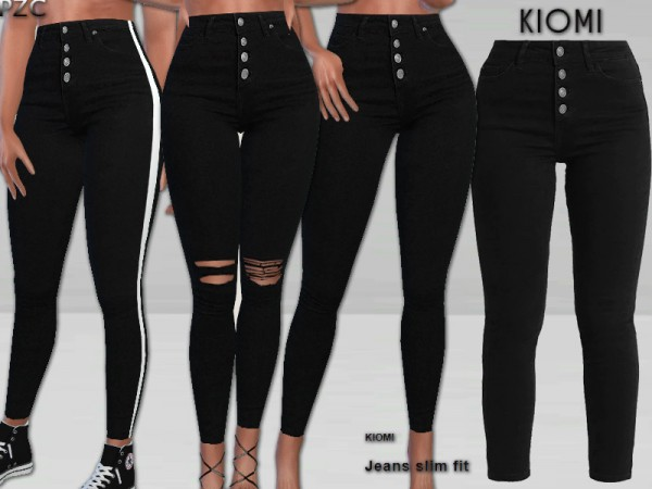 The Sims Resource: Kiomi Jeans Slim Fit by Pinkzombiecupcakes