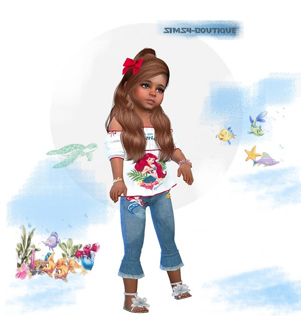 Sims4 boutique: Toddler Girls  Collection Mermaid Set2