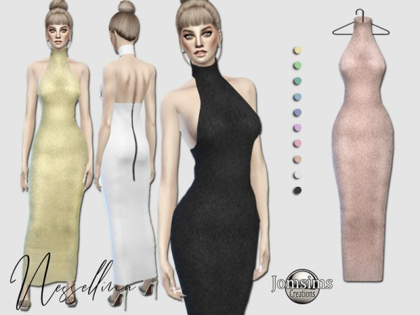 The Sims Resource: Nessellina long dress by jomsims