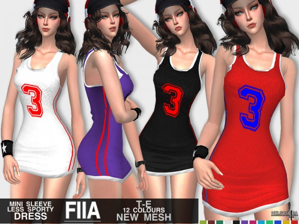 The Sims Resource: FIIA   Mini Sport Dress by Helsoseira