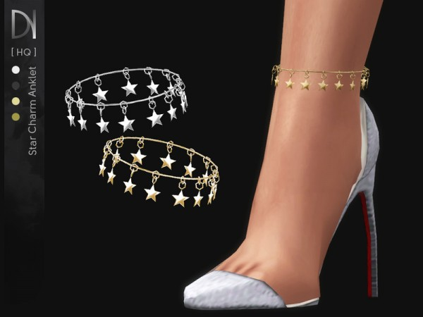 The Sims Resource Star Charm Anklet Right By Darknightt