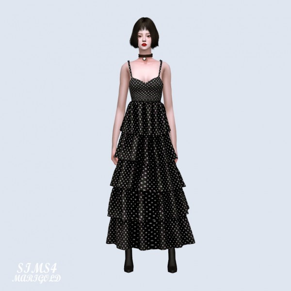 SIMS4 Marigold: Frill Tiered Dress
