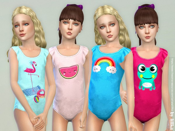 The Sims Resource: Swimsuit for Girls 02 by lillka