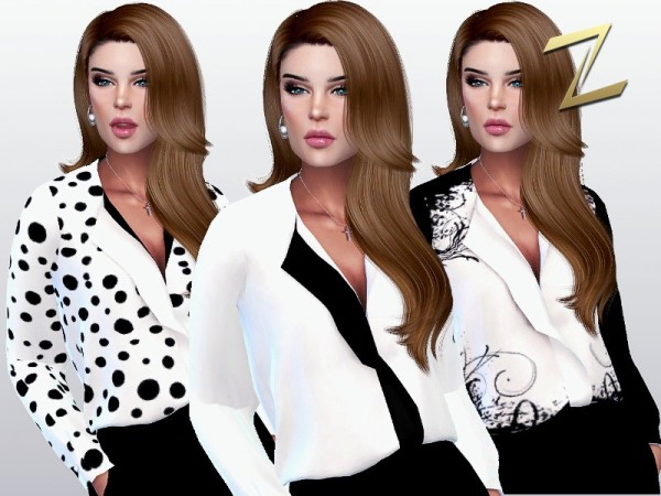 The Sims Models: Alexia Blouse by ZitaRossouw