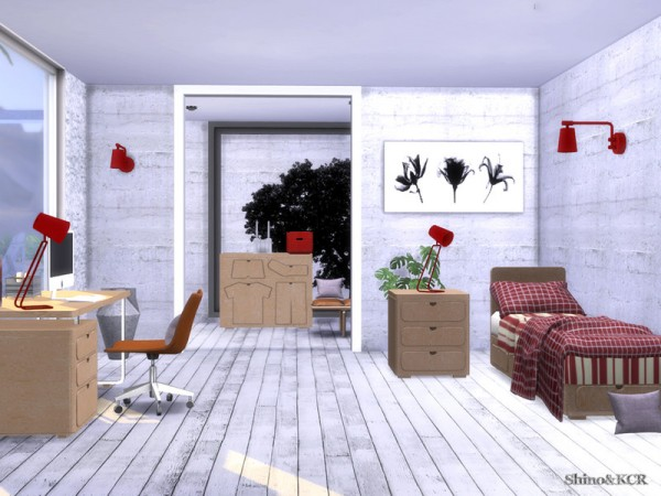 The Sims Resource: Single Bedroom Loved Things by ShinoKCR