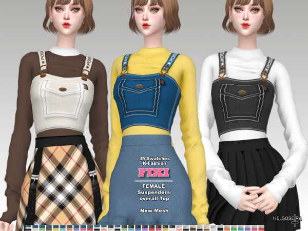 The Sims Resource: FIXI  Suspenders overall Top by Helsoseira