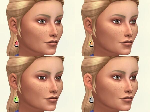 Sims Artists: Butterfly wings curls earrings