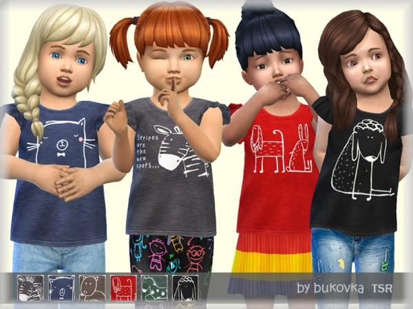 The Sims Resource: T Shirt Animal by bukovka
