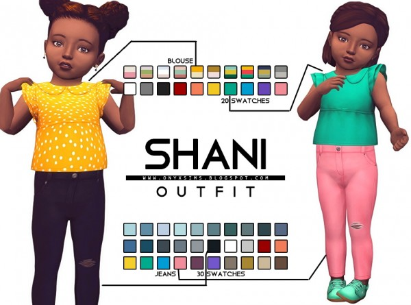 Onyx Sims: Toddler Shani Set