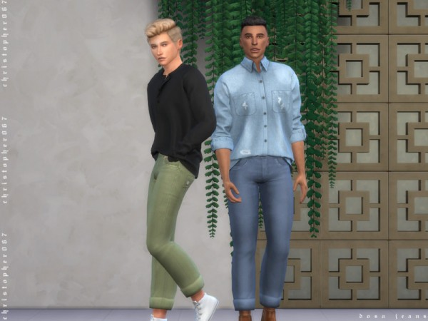 The Sims Resource: Dosa Jeans by Christopher067