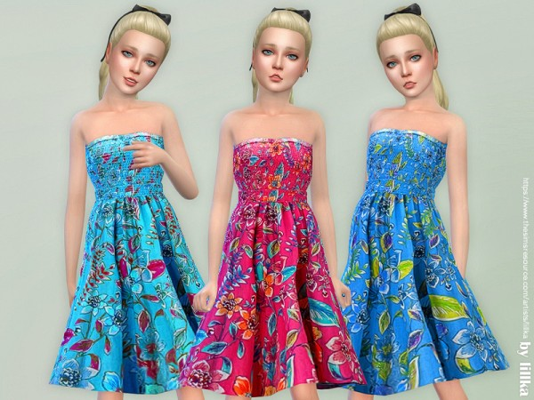 The Sims Resource: Girls Dresses Collection P119 by lillka