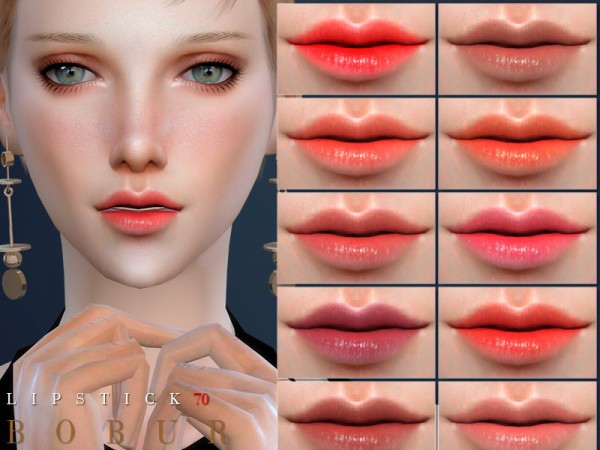 The Sims Resource: Lipstick 70 by Bobur3