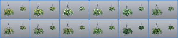 Mod The Sims: Hanging Flower Baskets by simsi45