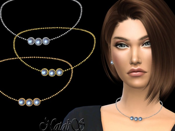 The Sims Resource: Moonstone charm necklace by NataliS