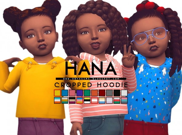 Onyx Sims: Hana Cropped Hoodie