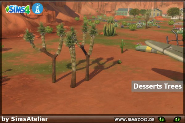 Blackys Sims 4 Zoo: Desserts Trees by SimsAtelier