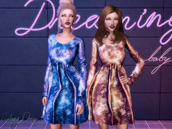 The Sims Resource: Galaxy Dress by Genius666