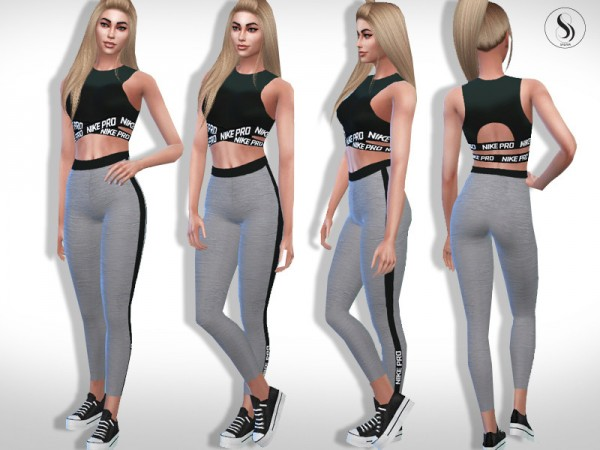 The Sims Resource: Athletic Fitness Outfit by Saliwa