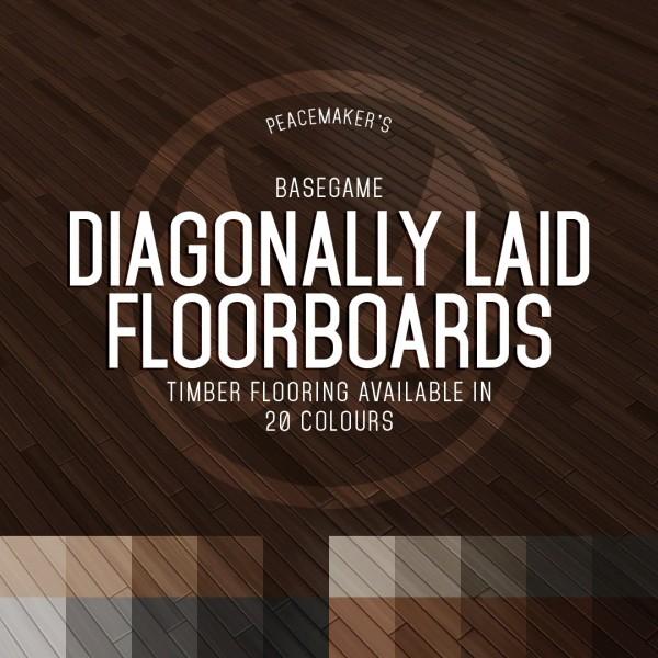 Simsational designs: Diagonally Laid Floorboards