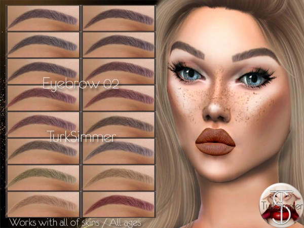 The Sims Resource: Eyebrow 02 by turksimmer