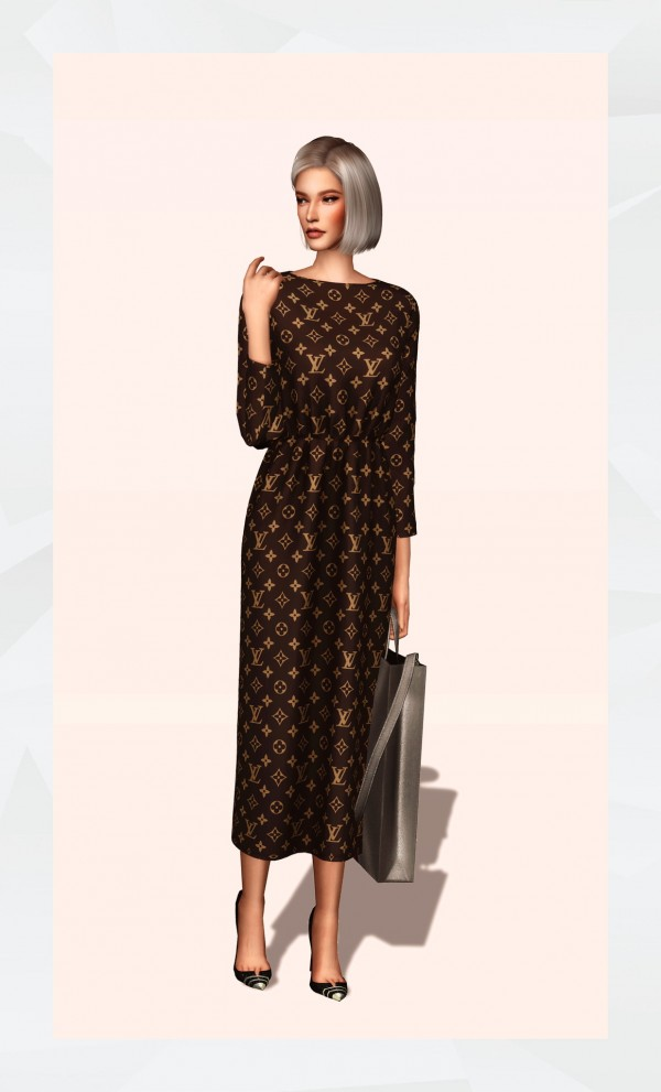 Gorilla: Elastic Waist Long Dress