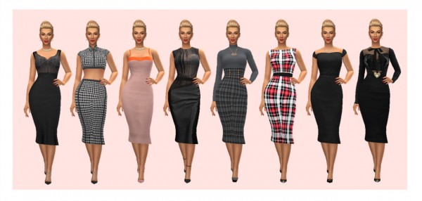 Sims 4 Sue: Slyd`s Flounce Hem Dress recolored