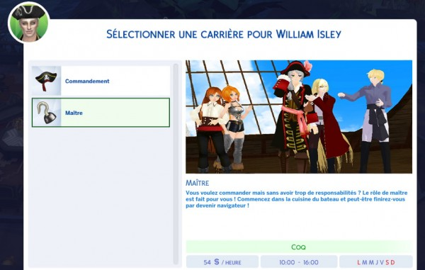 Mod The Sims: Pirate Career by vickyvoorhees