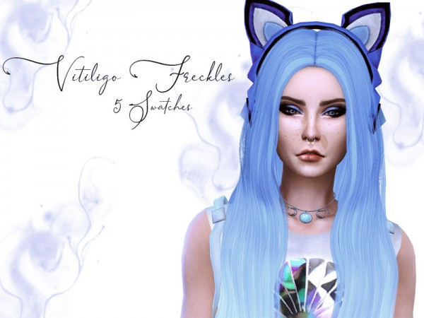 The Sims Resource: Vitiligo Freckles by Reevaly
