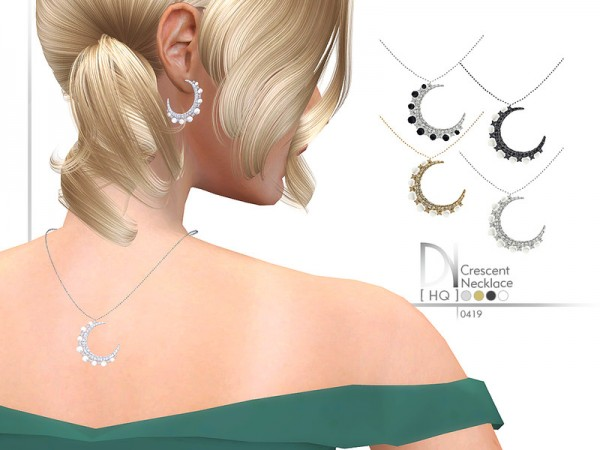 The Sims Resource: Crescent Necklace by DarkNighTt
