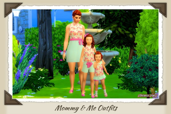 Strenee sims: Mommy and Me Outfits