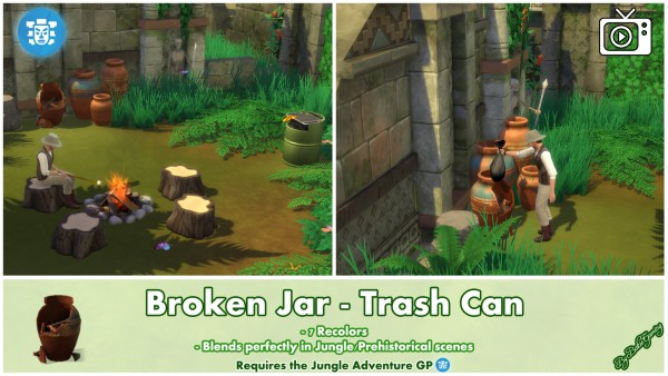 Mod The Sims: Broken Jar   Trash Can by Bakie