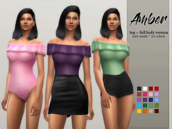 The Sims Resource: Amber Bodysuit by Sifix