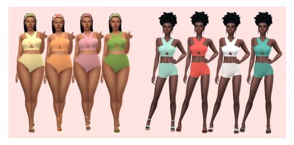 Sims 4 Sue: Cros Strap Swimsuit