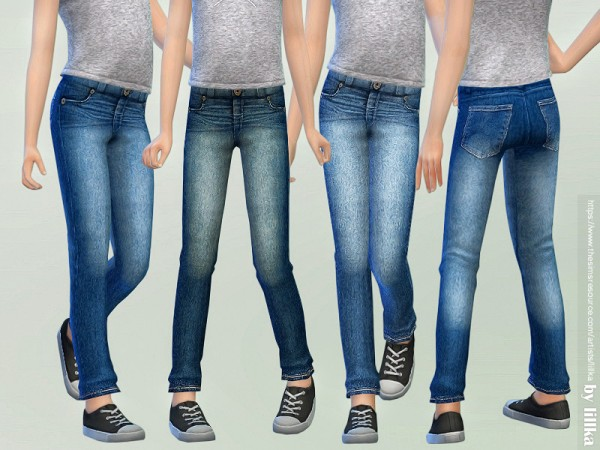The Sims Resource: Casual Jeans for Children 03 by lillka