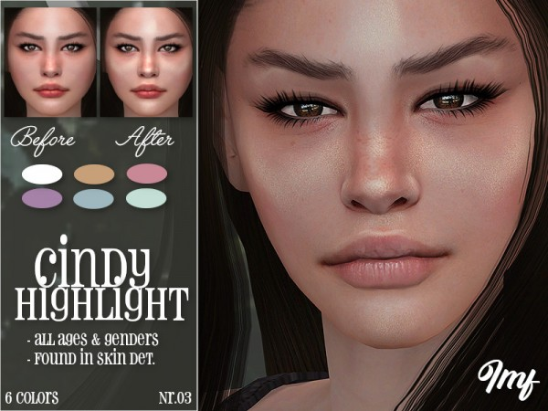 The Sims Resource: Cindy Highlight N.03 by IzzieMcFire