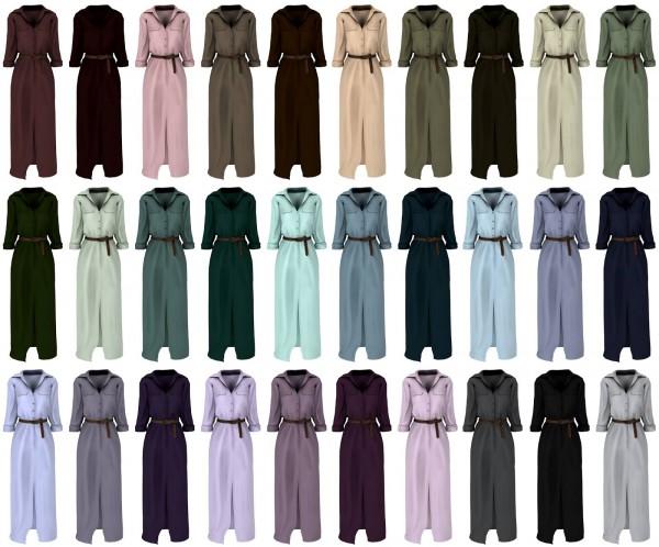 Lazyeyelids: Long sleeve belted maxi dress