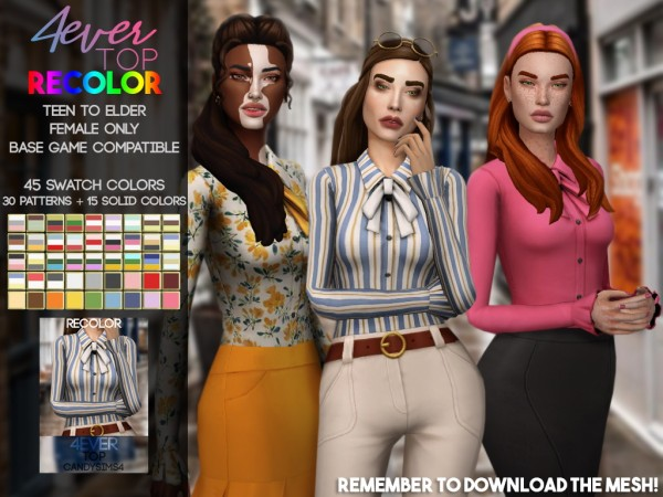 Candy Sims 4: 4 ever top recolored