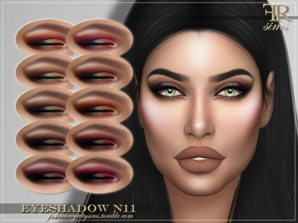 The Sims Resource: Eyeshadow N11 by FashionRoyaltySims